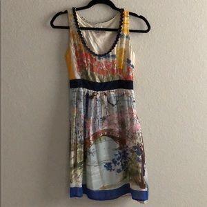 Unique Silk Anthropologie Dress